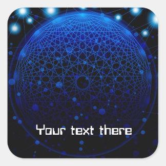modern technology theme sticker