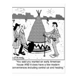 Modern Tee Pee has Central Air & Heating Post Cards