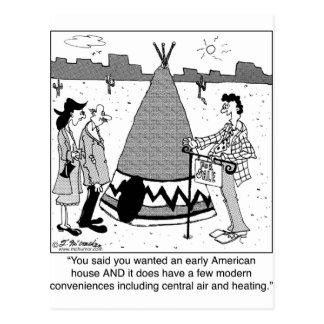 Modern Tee Pee has Central Air & Heating Postcard