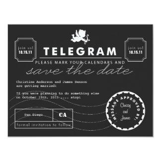 Modern Telegram Card Save the Date