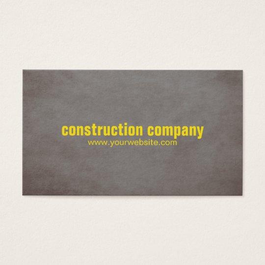 Modern Texture Stone Yellow Construction Business Card