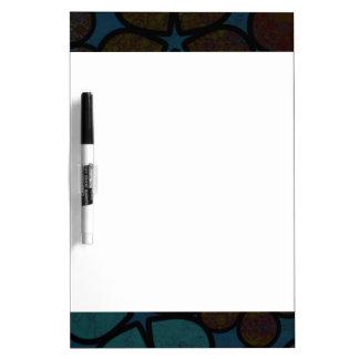 Modern Textured Dark Floral Dry Erase Board