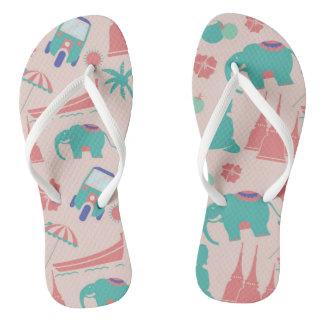 Modern Thai pattern flip flops for everyday wear