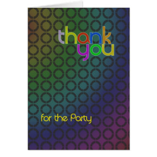 Modern Thank You for the party card