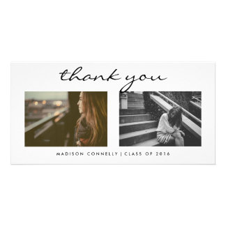Modern Thank You Graduate Photo Collage Personalized Photo Card