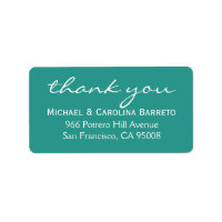 Modern Thank You Labels