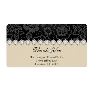 Modern Thank You Return Address Label