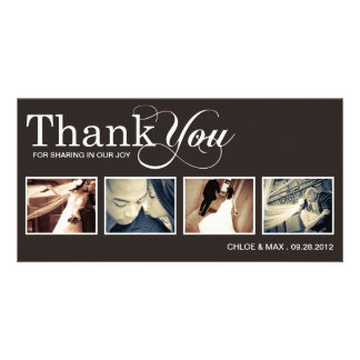 MODERN THANKS | WEDDING THANK YOU CARD PERSONALIZED PHOTO CARD