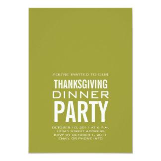 MODERN THANKSGIVING DINNER PARTY INVITATION GREEN
