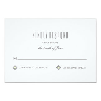 Modern Tiled Pattern Response Card 9 Cm X 13 Cm Invitation Card