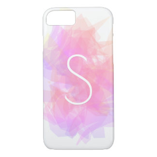 Modern Transparent Layers/Magenta Peach & Pink iPhone 8/7 Case
