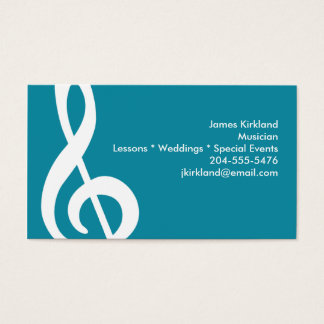 Modern Treble Clef Business Card