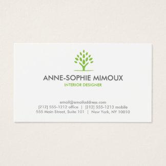 MODERN TREE GREEN/WHITE Business Card