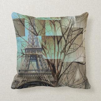 modern tree landscape paris eiffel tower cushion