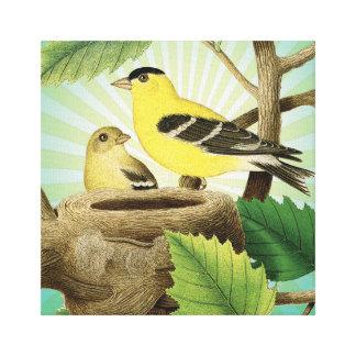 modern trend birds and nest canvas prints