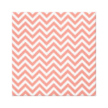 modern trend coral chevron stretched canvas prints