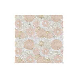 modern trends blush flower blooms stone magnet