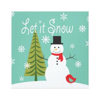 modern trends winter snowman canvas print