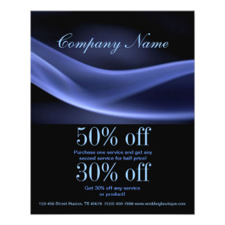 modern trendy blue black abstract business 11.5 cm x 14 cm flyer