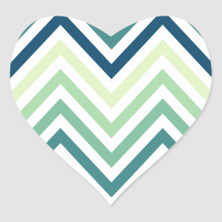 Modern Trendy Chevron Pattern Gifts Heart Sticker