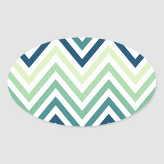 Modern Trendy Colorful Chevron Stickers