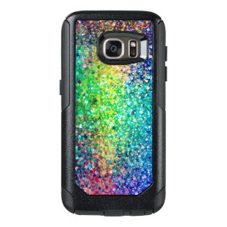 Modern Trendy Colorful Glitter Print OtterBox Samsung Galaxy S7 Case