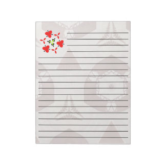 Modern trendy cool pattern notepad