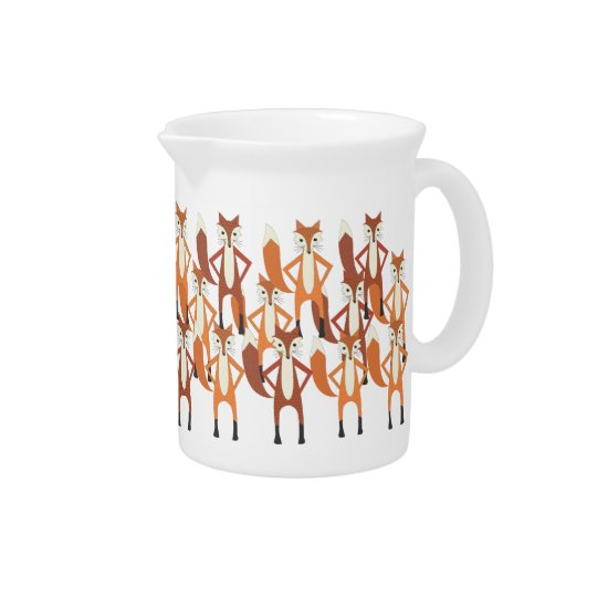 Modern Trendy Cute Fox Pattern Pitcher