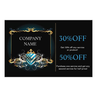 Modern trendy decorative abstract art personalized flyer
