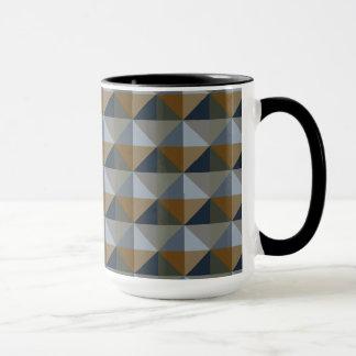 Modern Trendy Diamond Triangle Ringer Mug