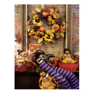 Modern Trendy Fall Thanksgiving Theme Postcard