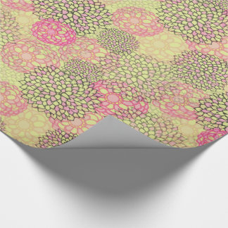 Modern Trendy Floral Pattern Wrapping Paper