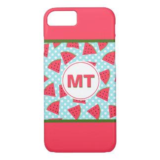 Modern Trendy Graphic Watermelon Fruit Pattern iPhone 8/7 Case