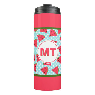 Modern Trendy Graphic Watermelon Fruit Pattern Thermal Tumbler