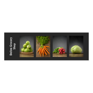 Modern Trendy Grocery Business Card