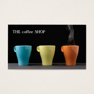 Modern Trendy Loyalty Card Coffee Tea Shop