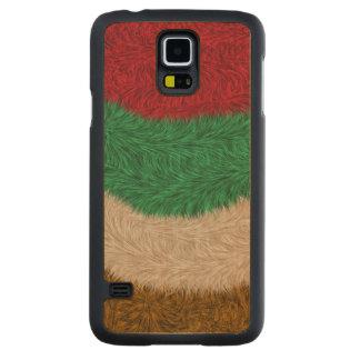 Modern trendy pattern carved maple galaxy s5 case