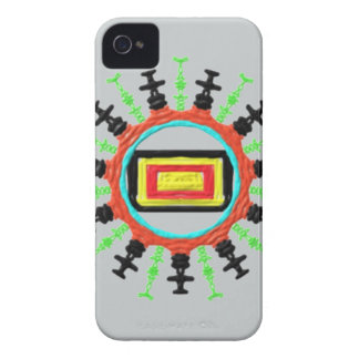 Modern trendy pattern iPhone 4 case