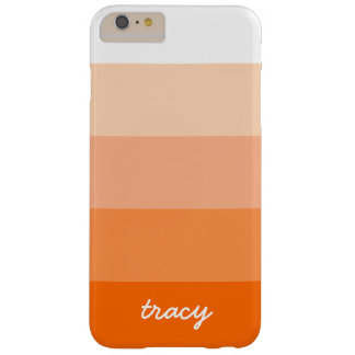 Modern Trendy Stripes Personalized Barely There iPhone 6 Plus Case