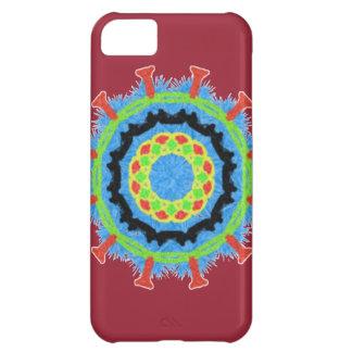 Modern trendy stylish colorful pattern iPhone 5C case