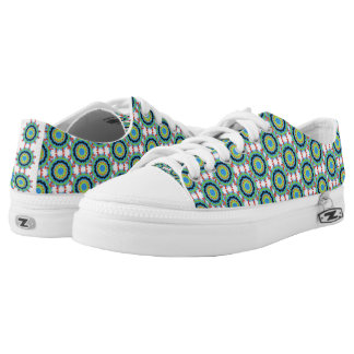 Modern trendy stylish colorful pattern low tops