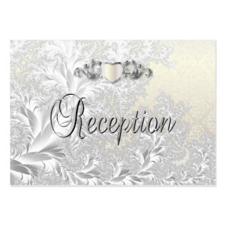 Modern Trendy Wedding in a Satin White Damask Pack Of Chubby Business Cards