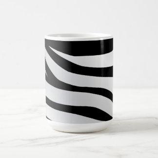 Modern Trendy Zebra Stripes Pattern Basic White Mug