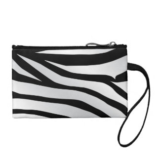 Modern Trendy Zebra Stripes Pattern Coin Purse