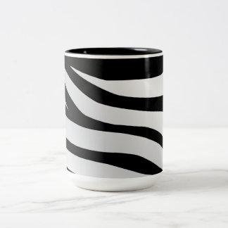 Modern Trendy Zebra Stripes Pattern Coffee Mugs