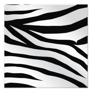 Modern Trendy Zebra Stripes Pattern Photo Print
