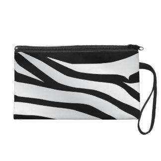 Modern Trendy Zebra Stripes Pattern Wristlet Purses