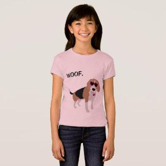 Modern tri-color beagle dog T-Shirt