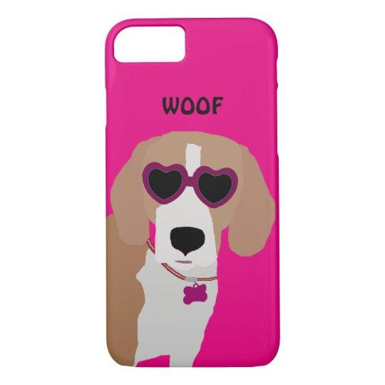 Modern tri-colour beagle dog iPhone 8/7 case