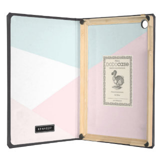 Modern Triangles Pattern | Pastel Personalized iPad Air Covers